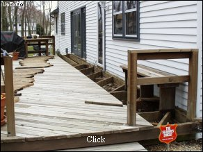 Deck Opened for Termite Treatment....